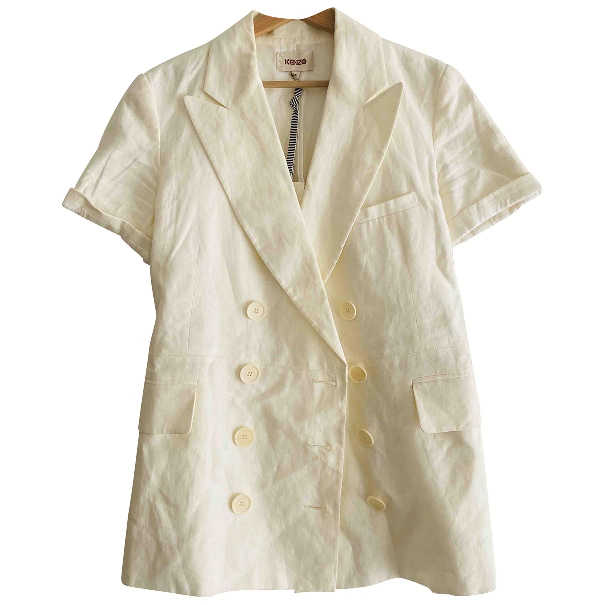Kenzo \N Beige Silk jacket for Women 38 FR