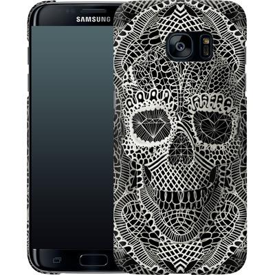 Samsung Galaxy S7 Edge Smartphone Huelle - Lace Skull von Ali Gulec