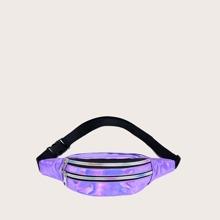 Holografische Guerteltasche mit Reissverschluss vorn