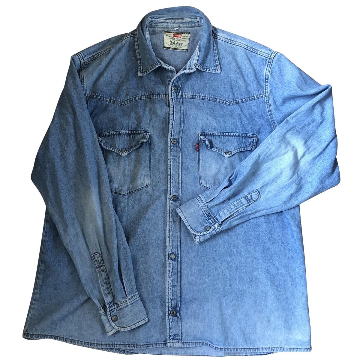 Levis Vintage Clothing - Chemises   pour homme en denim - bleu