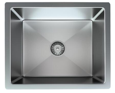 SRR1815C/10 Satin Stainless Undermount Bar or Island Sink with Single Bowl in