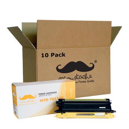 Compatible Brother TN115Y cartouche de toner jaune haute capacite - Moustache - 10/paquet