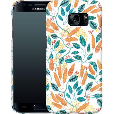 Samsung Galaxy S7 Smartphone Huelle - Wild Leaves von Iisa Monttinen