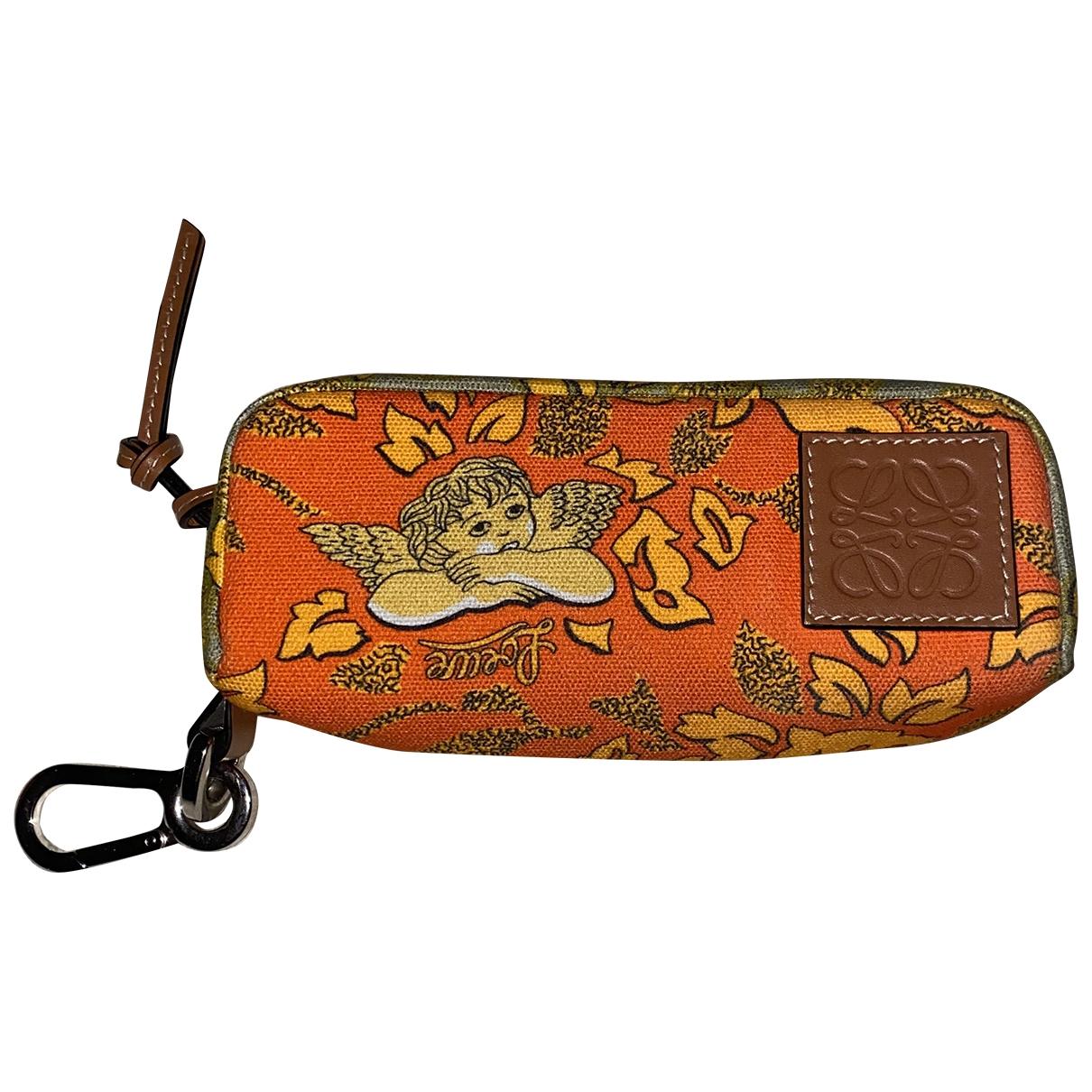 Loewe \N Orange Linen Clutch bag for Women \N