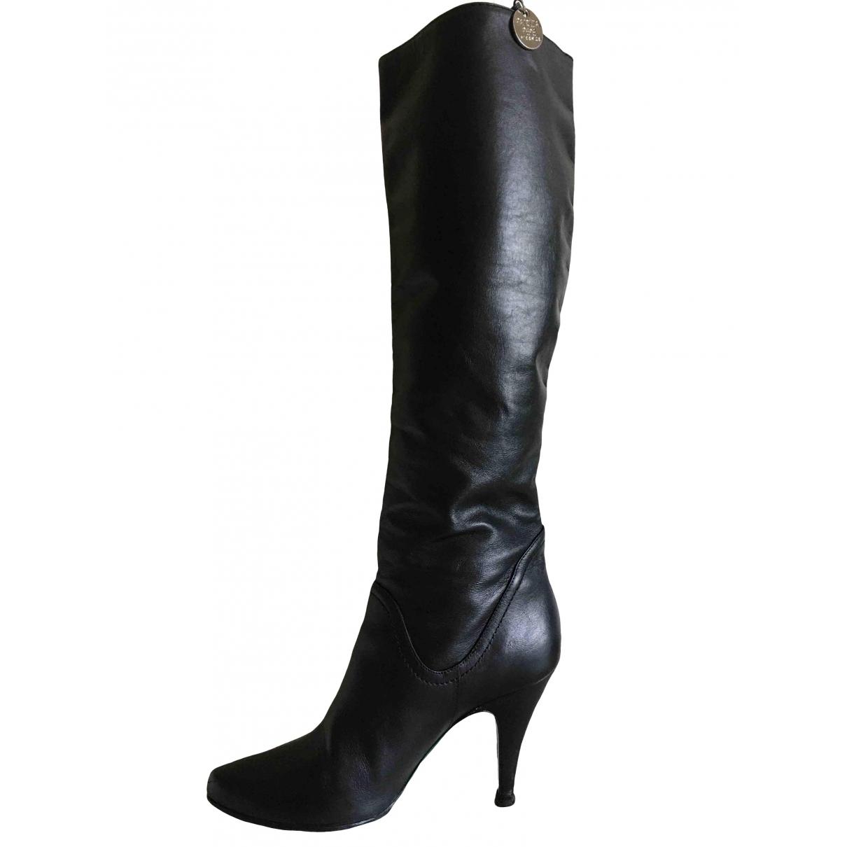 Patrizia Pepe \N Stiefel in  Schwarz Leder