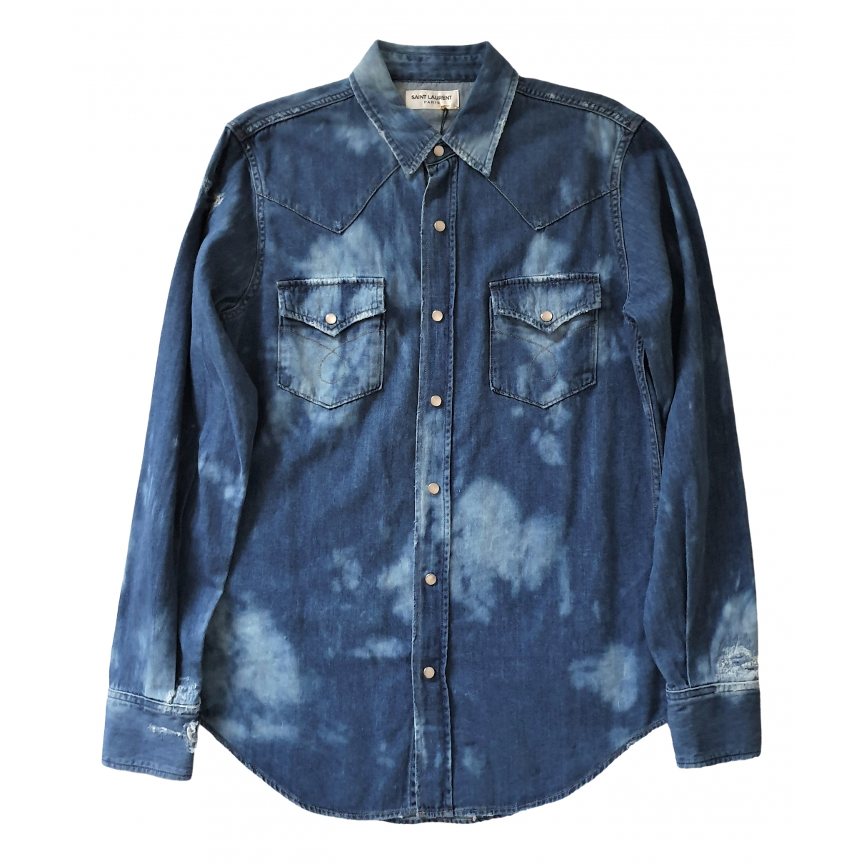 Saint Laurent \N Blue Denim - Jeans Shirts for Men S International