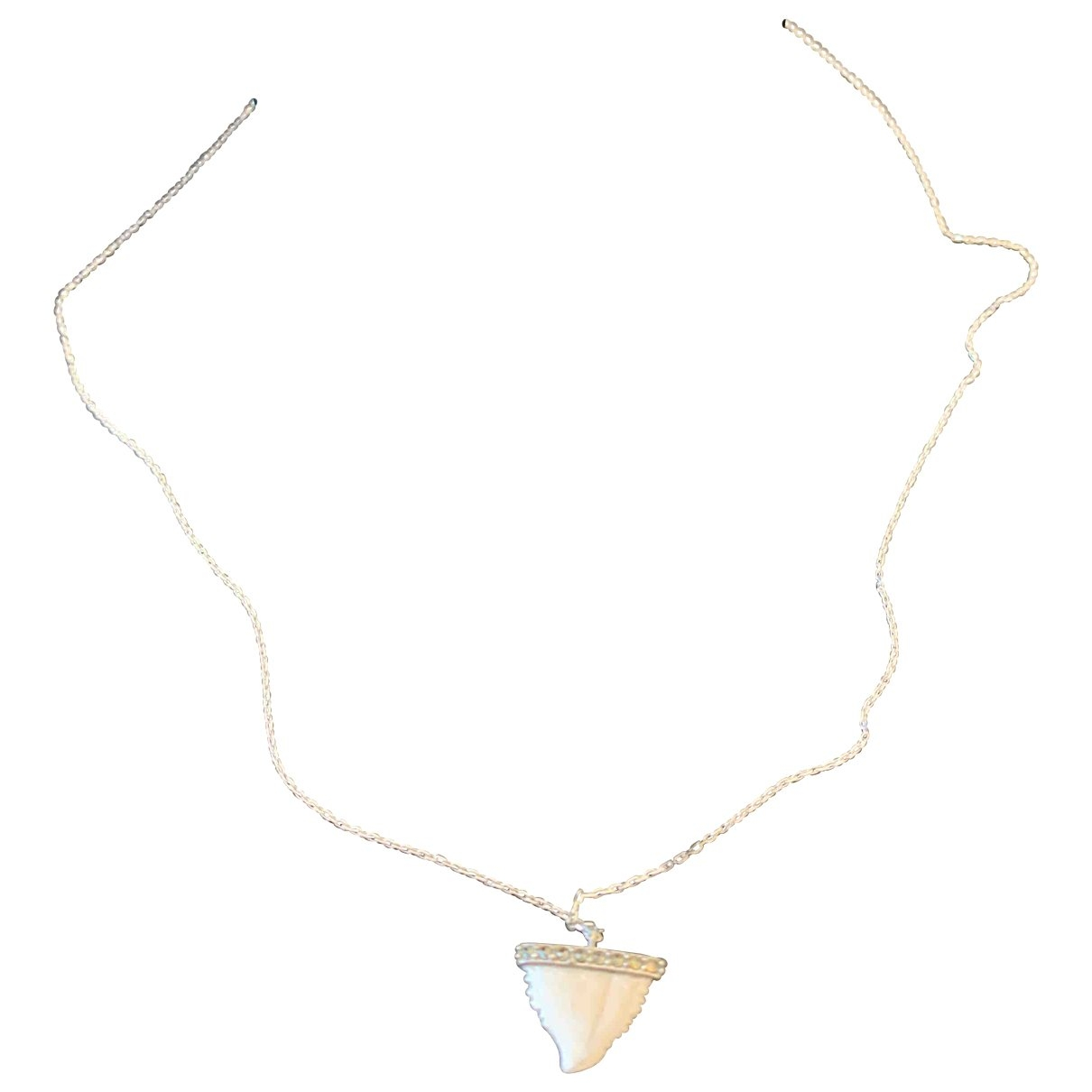 Feidt - Collier   pour femme en or blanc - gris