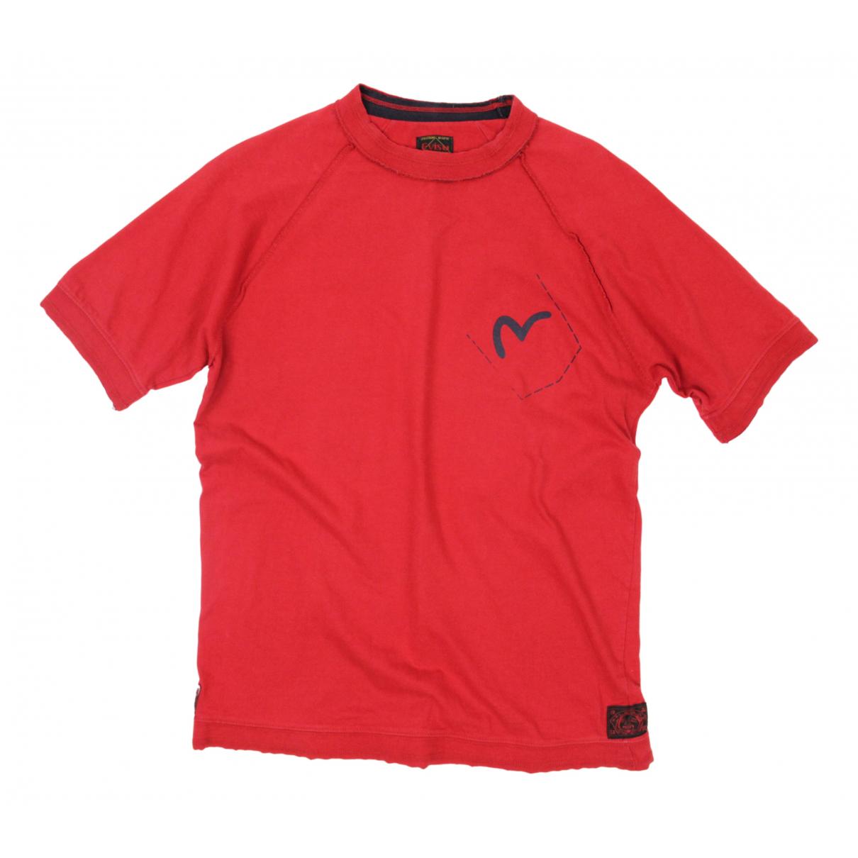 Evisu - Tee shirts   pour homme en coton - rouge