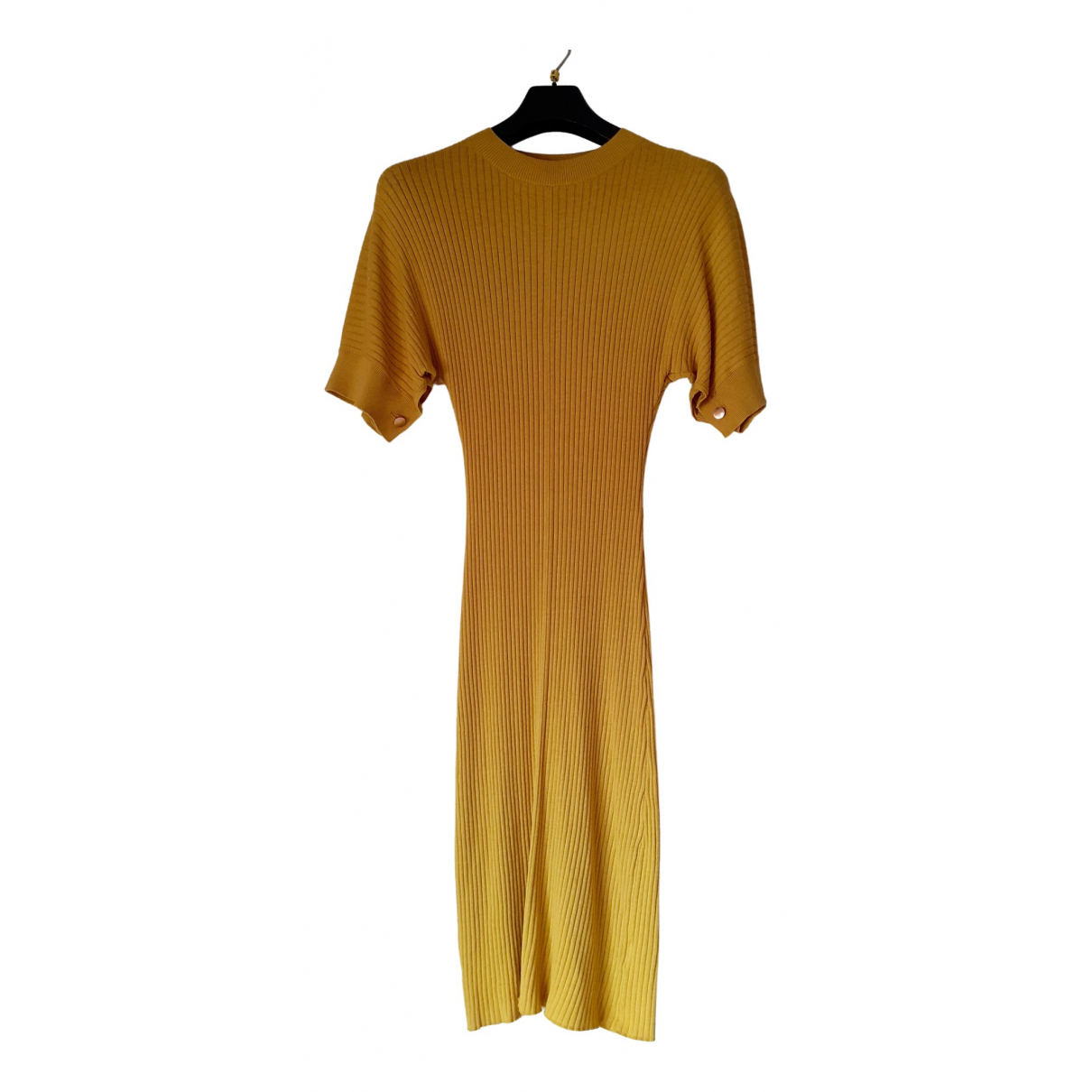 Non Signé / Unsigned N Yellow dress for Women One Size IT