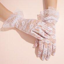 Handschuhe mit Blumen Spitzen