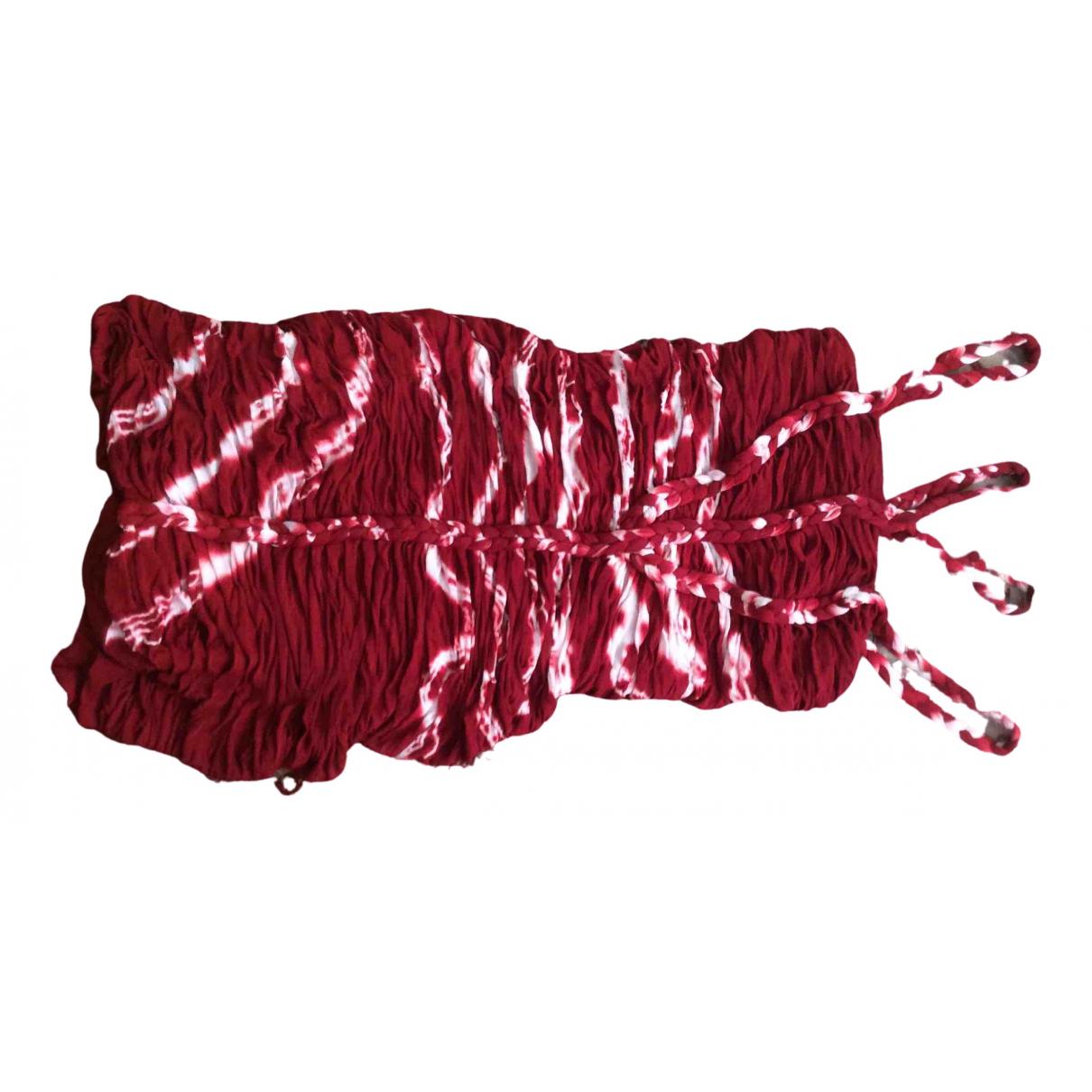 Isabel Marant \N Kleid in  Rot Baumwolle - Elasthan