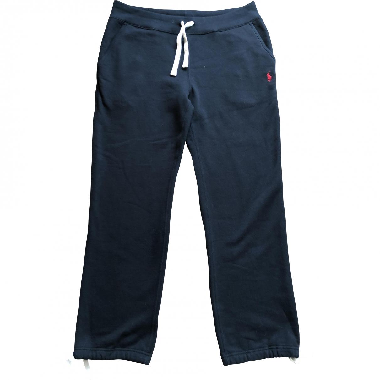 Polo Ralph Lauren \N Black Cotton Trousers for Men S International