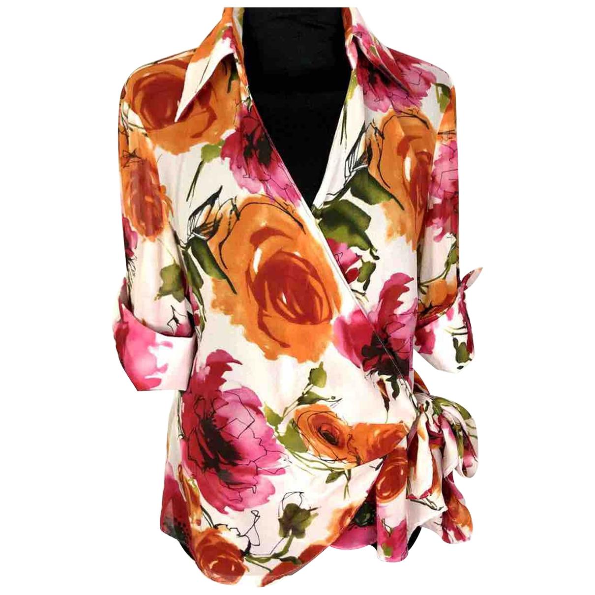 Marella - Top   pour femme en soie - multicolore
