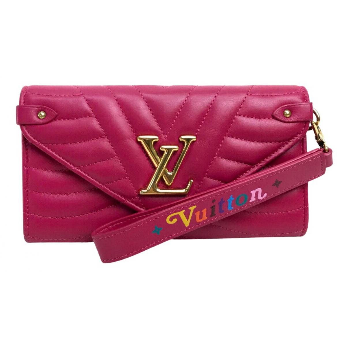 Louis Vuitton - Portefeuille NewWave pour femme en cuir - rose