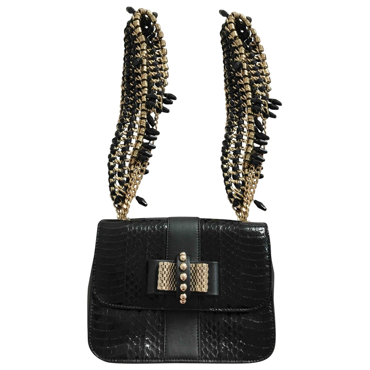 Christian Louboutin \N Handtasche in  Schwarz Wasserschlangen