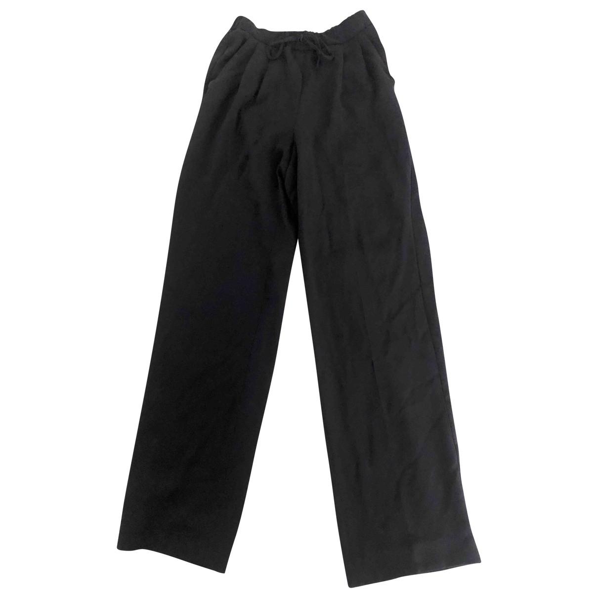 Max Mara \N Black Trousers for Women 34 FR