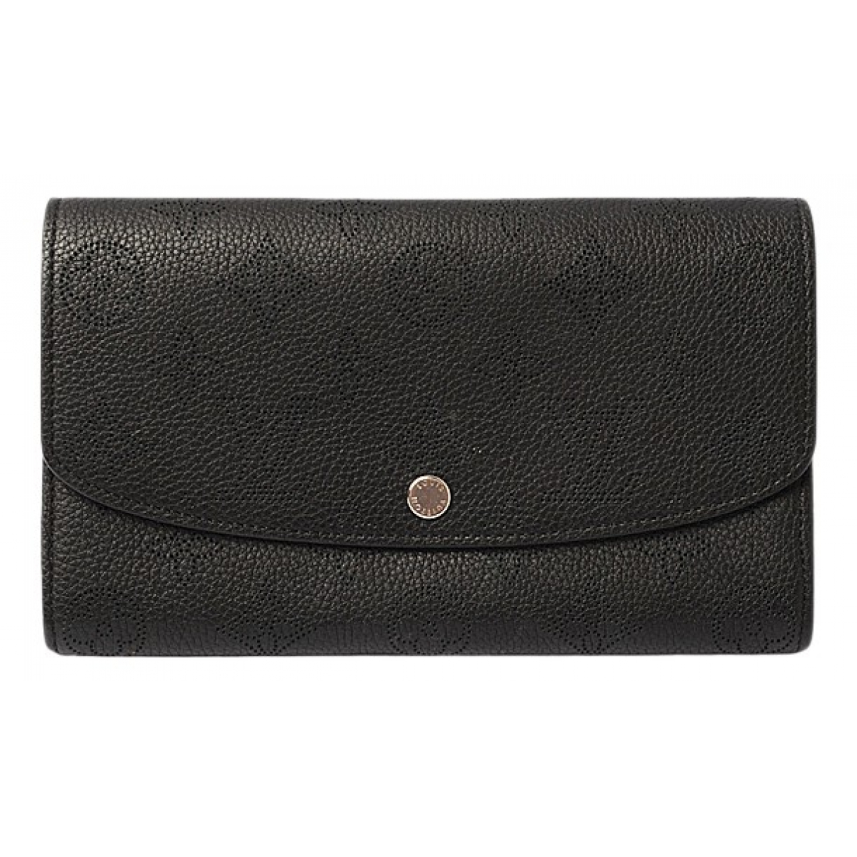 Louis Vuitton Mahina Portemonnaie in  Schwarz Leder