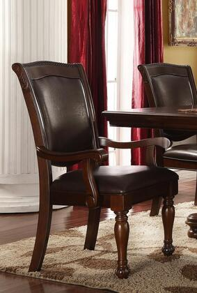 Eva Collection EV605-A Arm Chair with Full Back and Padded Seat in Espresso