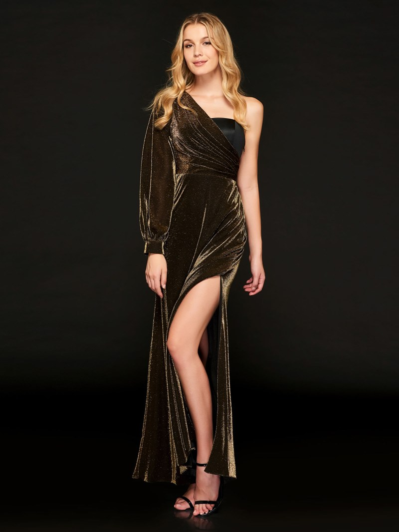 Ericdress A Line One Shoulder Empire Split-Front Evening Dress