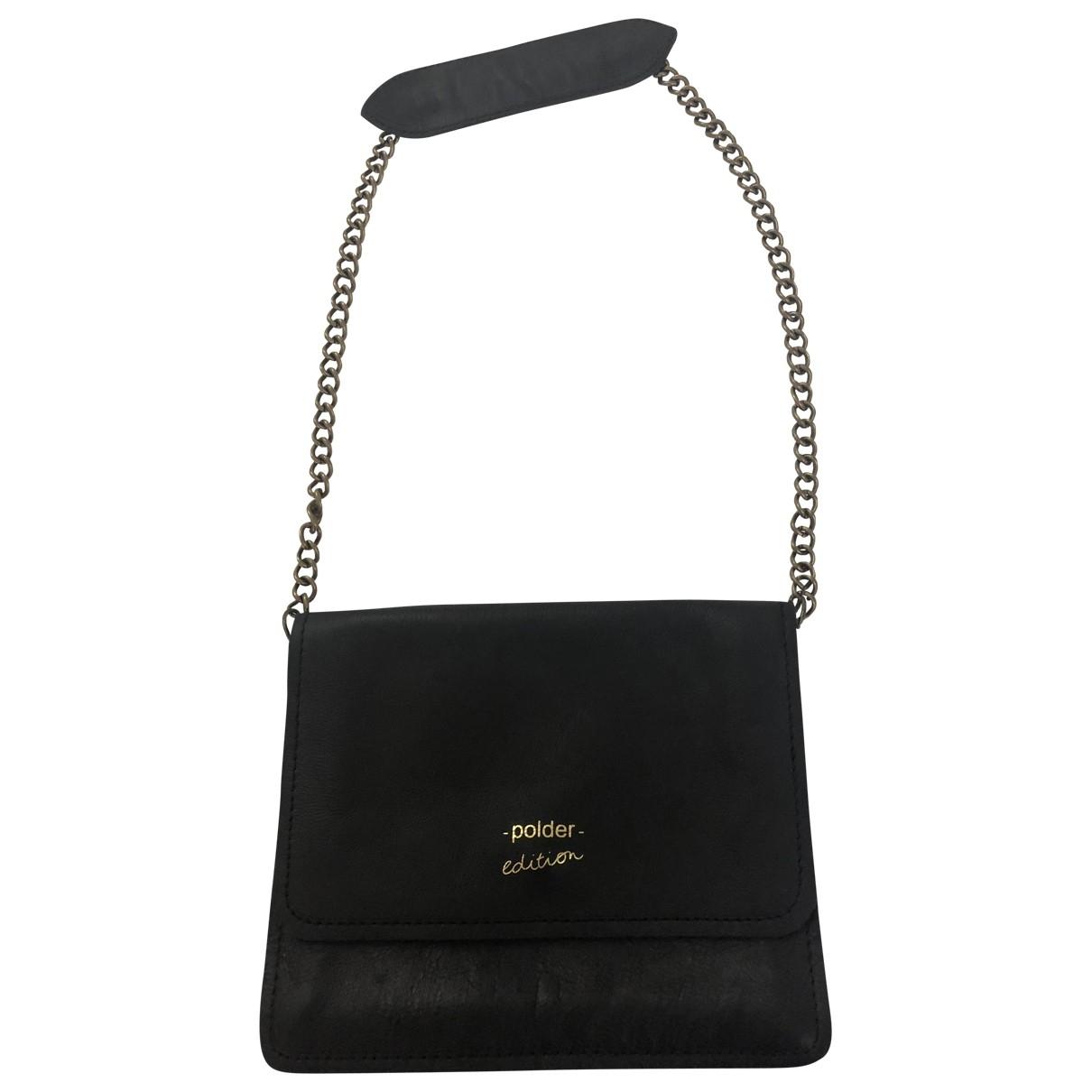 Polder \N Black Leather handbag for Women \N