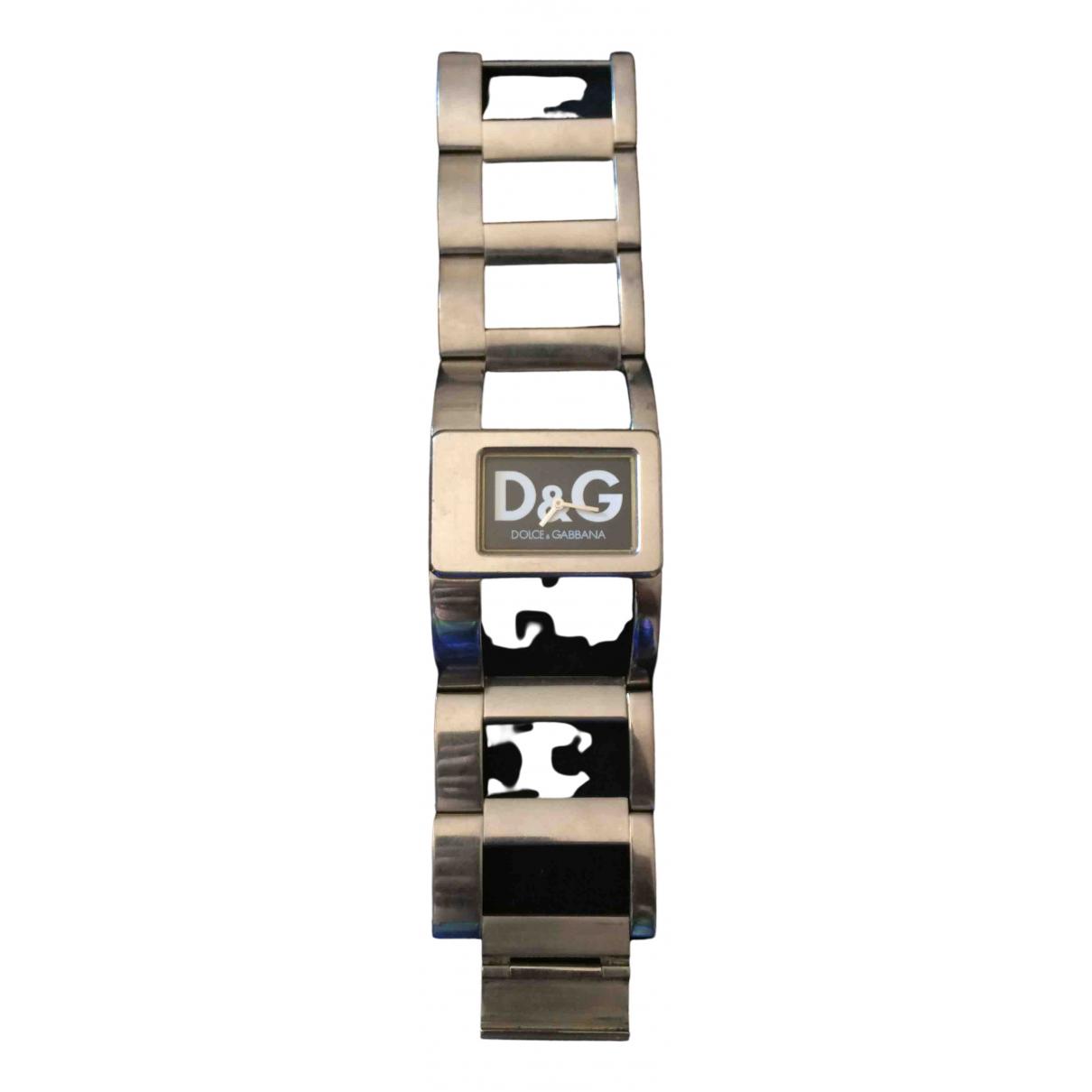 D&g - Montre   pour femme en acier - argente