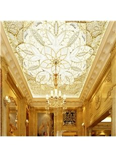 3D Floral Pattern Exquisite Style Waterproof Durable and Eco-friendly Ceiling Murals