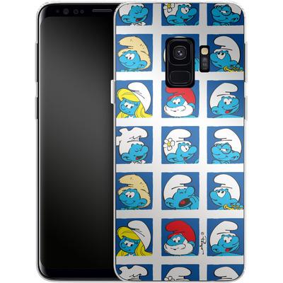 Samsung Galaxy S9 Silikon Handyhuelle - Smurf Squares von The Smurfs
