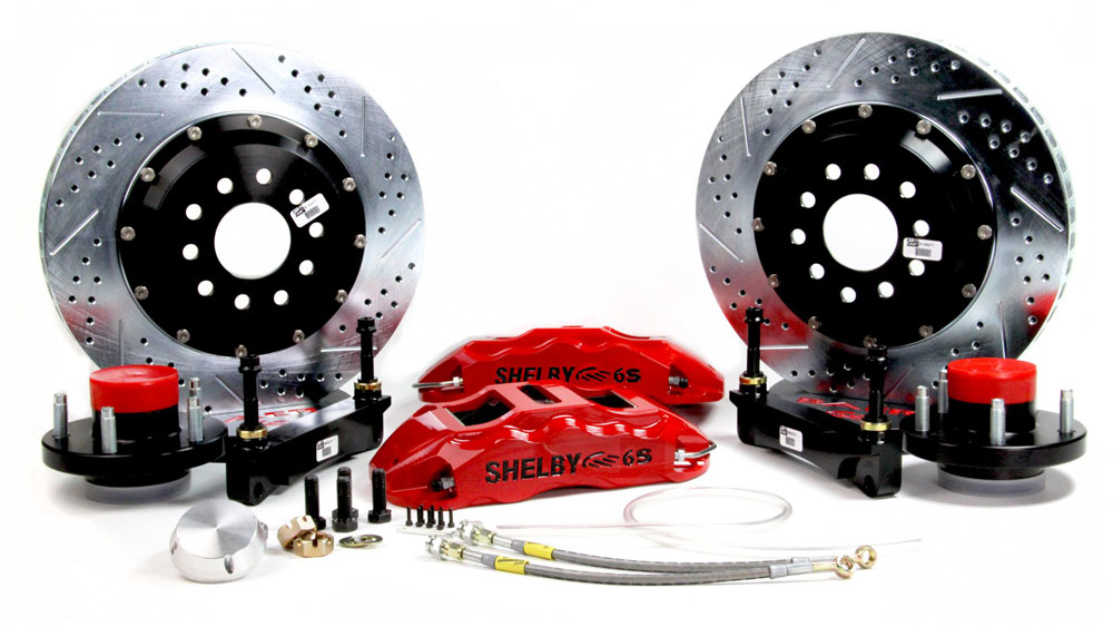 Baer Brakes Brake System 14 Inch Front Extreme+ Red 70-73 Ford Mustang