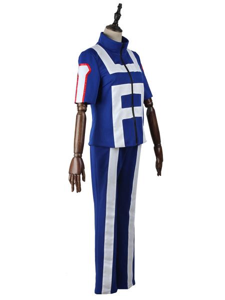Milanoo Halloween Disfraz Carnaval My Hero Academia Cosplay Paño uniforme azul BNHA Disfraces de cosplay Carnaval