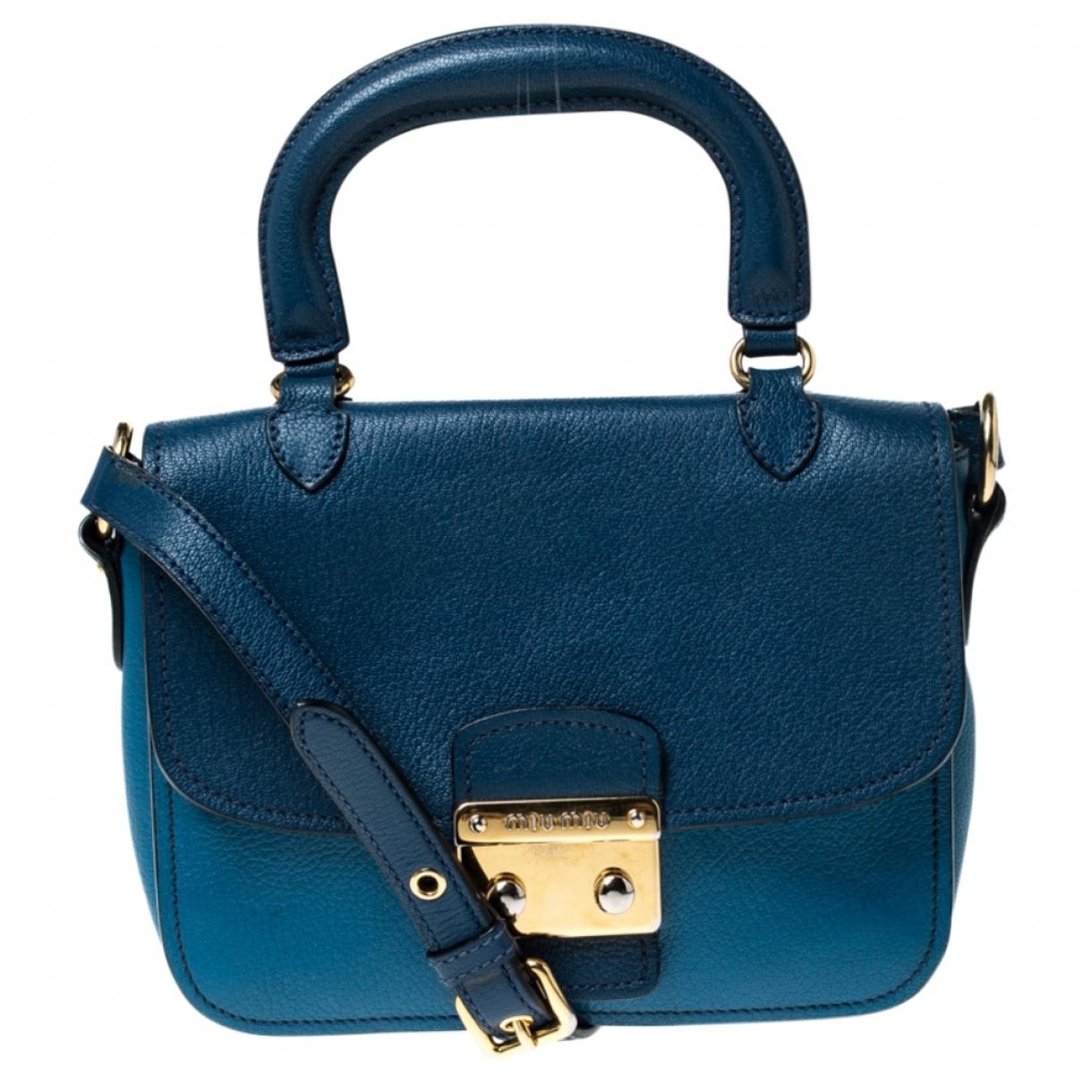 Miu Miu Madras Blue Leather handbag for Women \N
