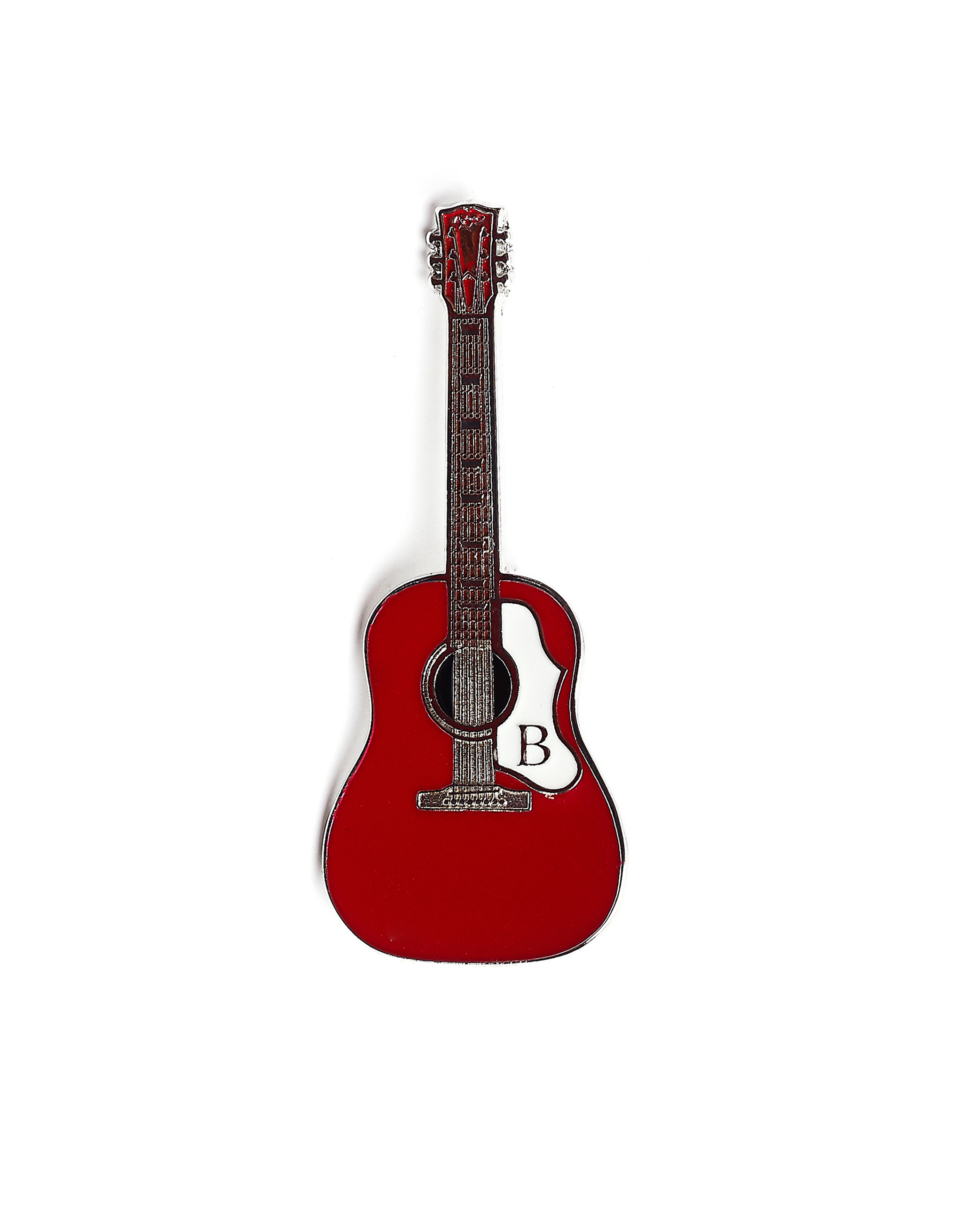 Yohji Yamamoto Red Guitar Pin Badge