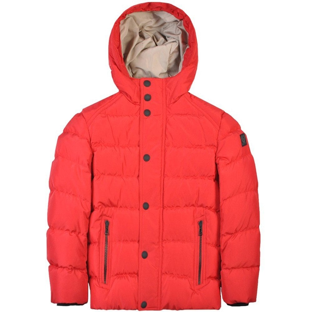 Belstaff Kids Singer Puffa Jacket Red Colour: RED, Size: 12 YEARS