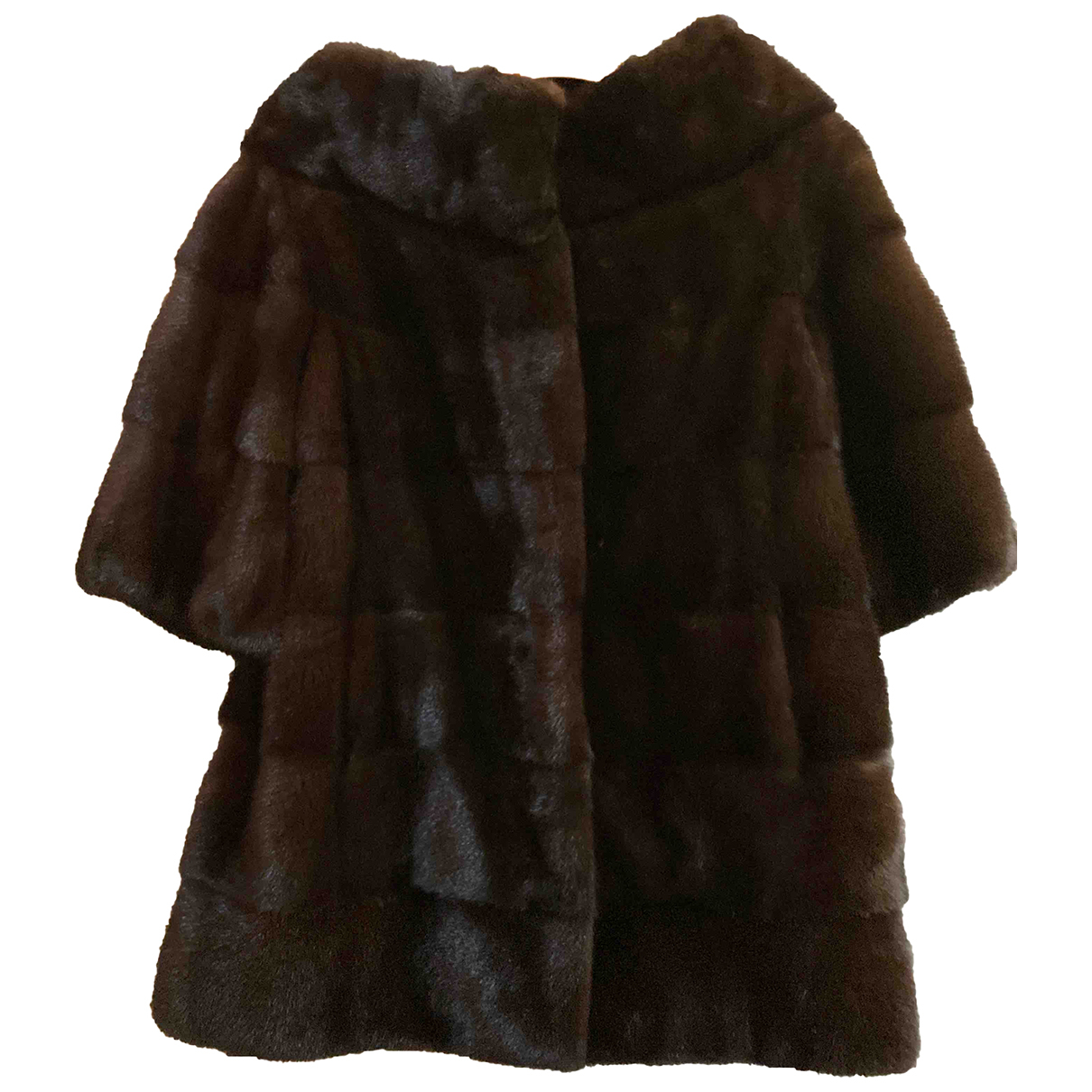 Autre Marque N Brown Mink jacket for Women 42 IT