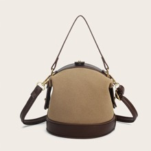 Mini Two Tone Satchel Bag