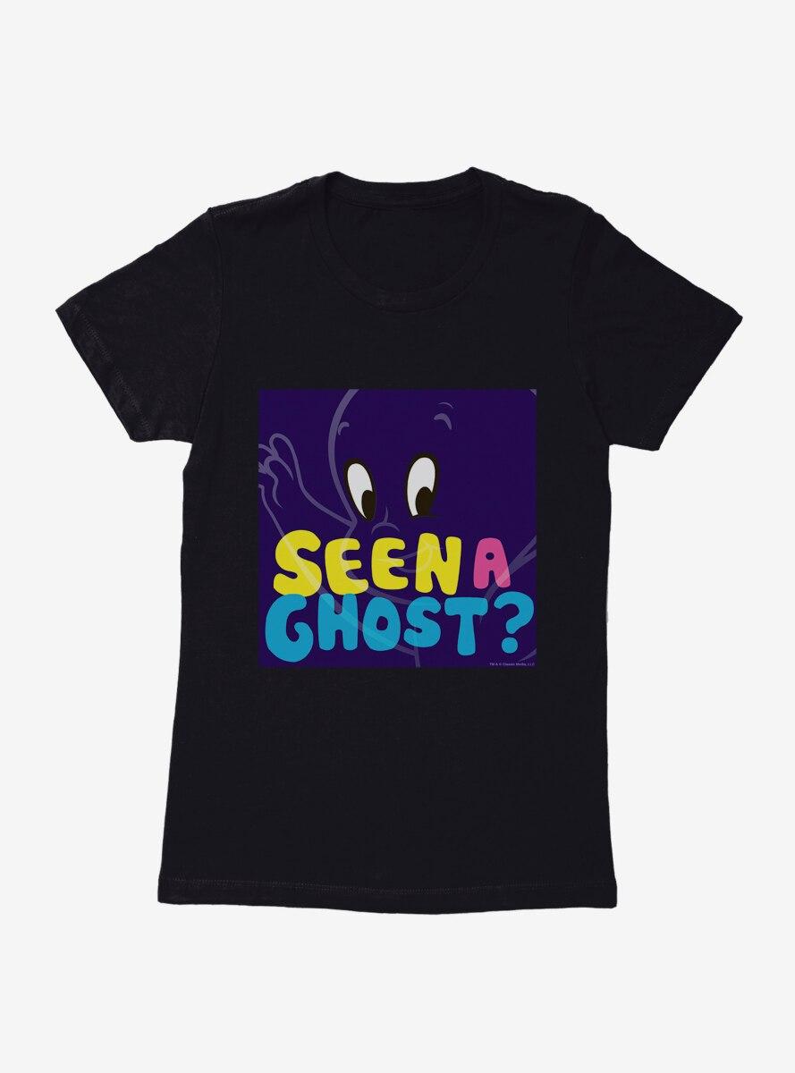 Casper The Friendly Ghost Pop Comic Art Seen A Ghost Womens T-Shirt