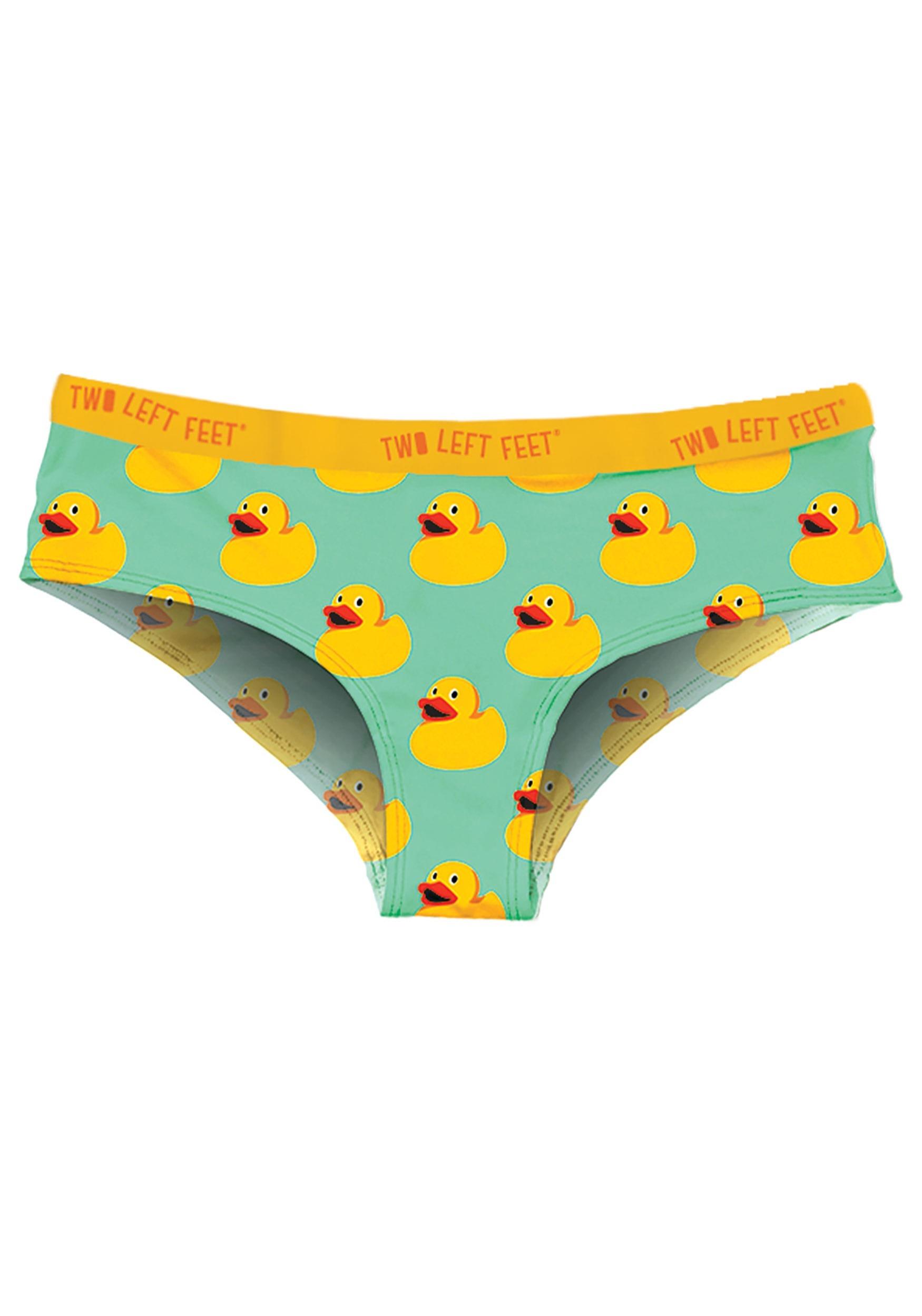Two Left Feet Sitting Rubber Duck Womens Hipster Underwear