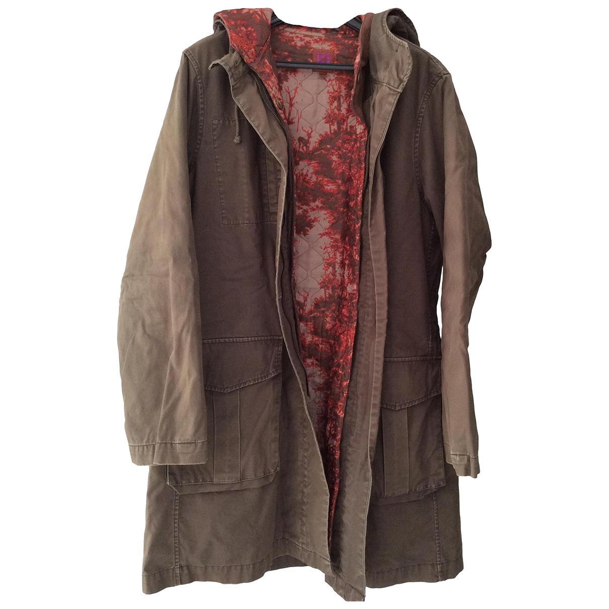Bensimon - Manteau   pour femme en coton - kaki