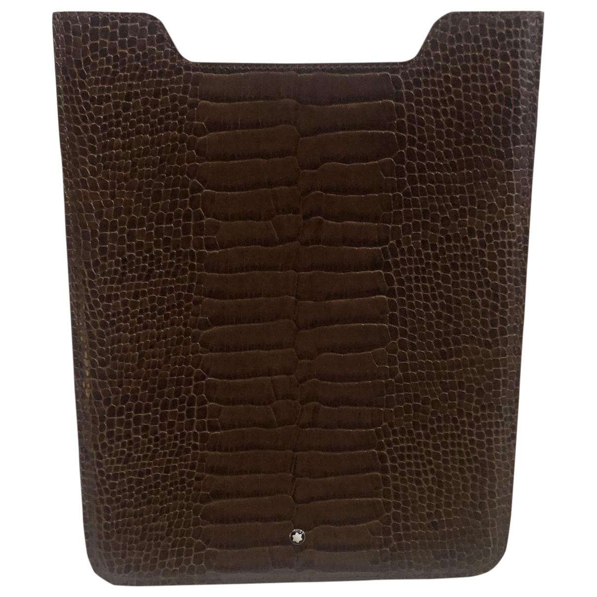 Montblanc - Accessoires   pour lifestyle en cuir verni - marron
