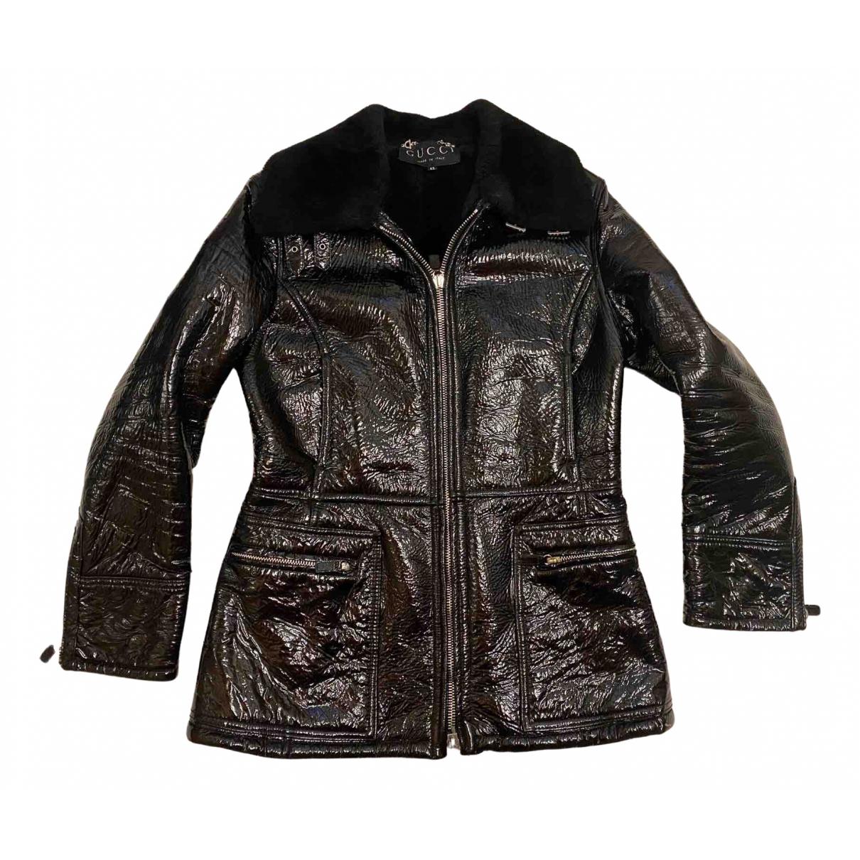 Gucci - Veste   pour femme en mouton - noir