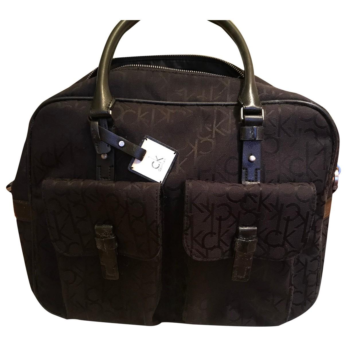 Calvin Klein \N Handtasche in  Braun Synthetik