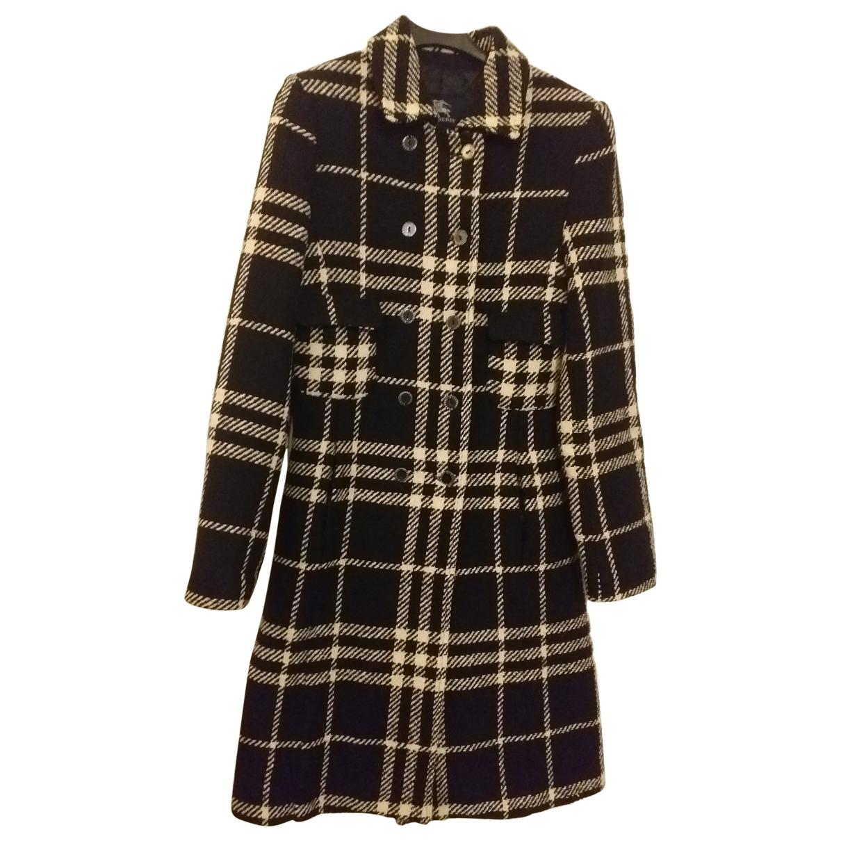 Burberry - Blousons.Manteaux   pour enfant en laine - multicolore