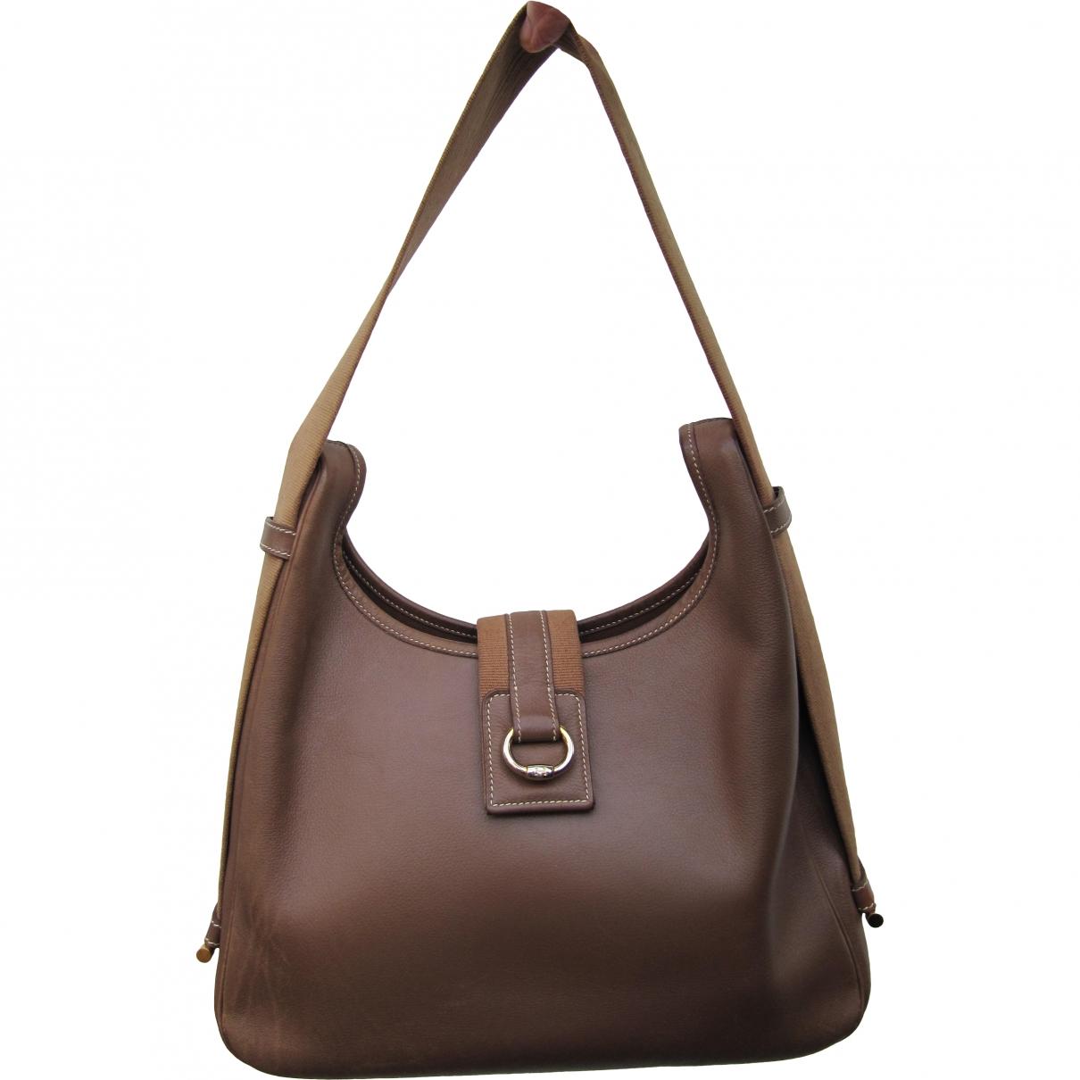 Hermès Tsako Brown Leather handbag for Women \N