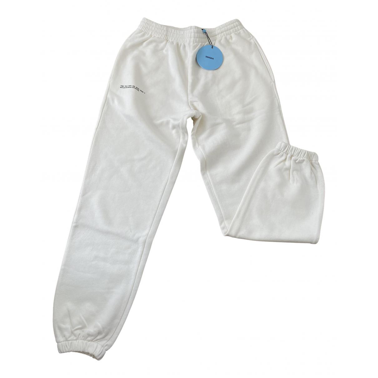 The Pangaia \N White Cotton Trousers for Women XS International