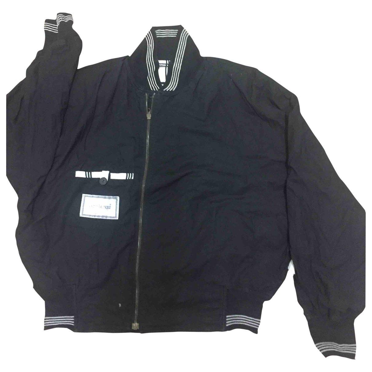 Gianni Versace \N Jacke in  Schwarz Baumwolle