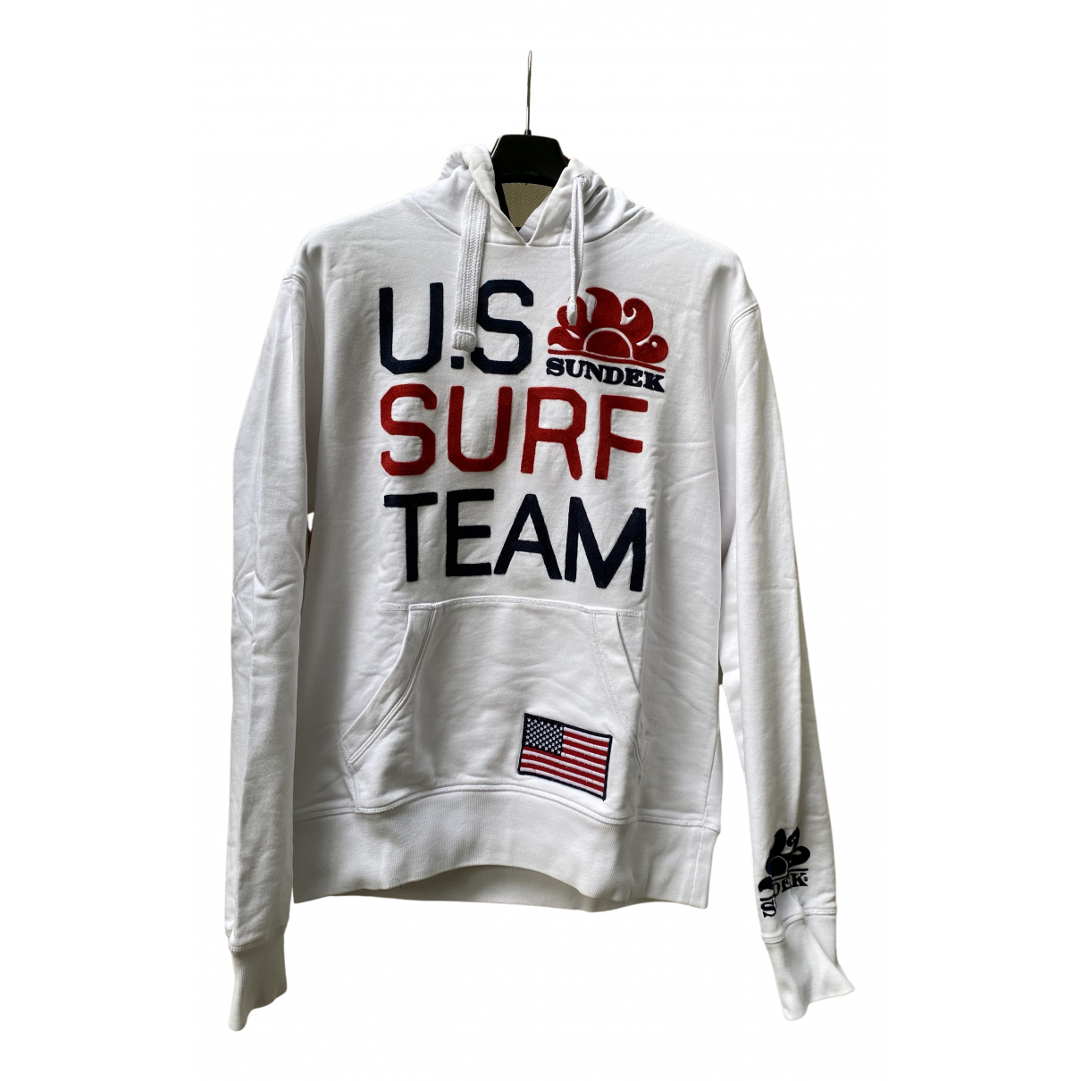 Sundek \N Pullover.Westen.Sweatshirts  in  Weiss Baumwolle