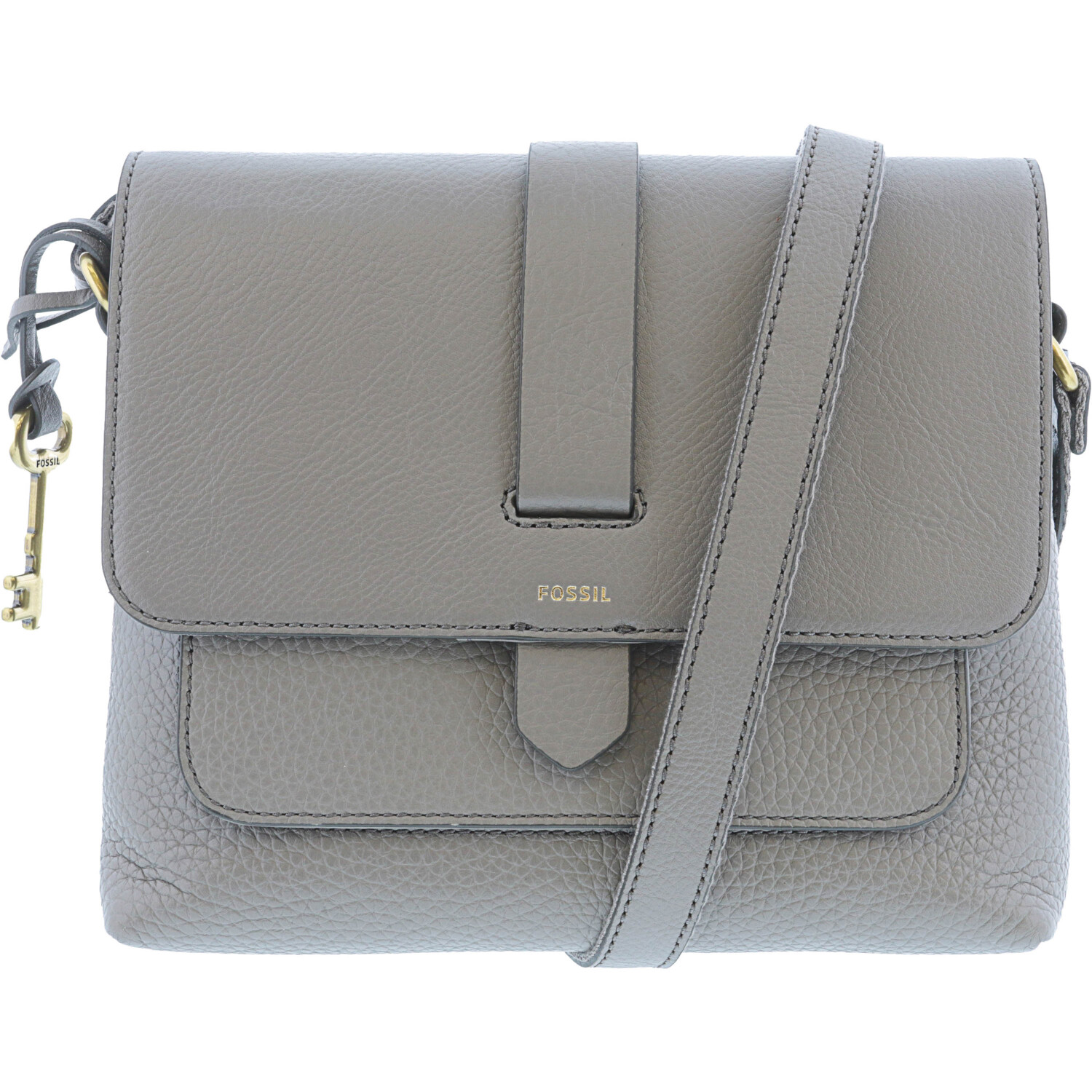 Fossil Women's Kinley Small Crossbody Leather Cross Body Bag - Shadow