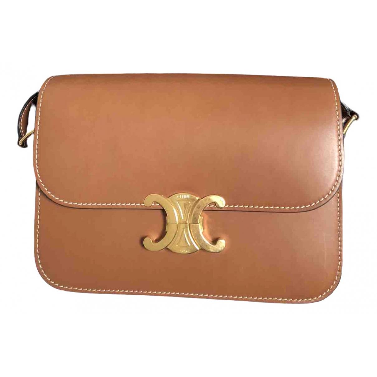 Celine Triomphe Camel Leather handbag for Women \N
