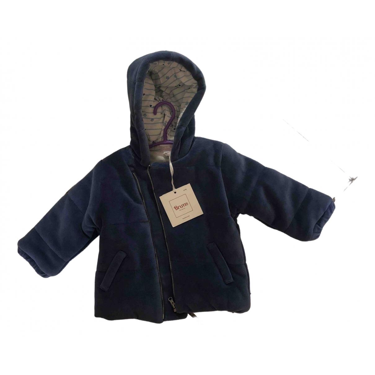 Brums - Robe    pour enfant en coton - bleu
