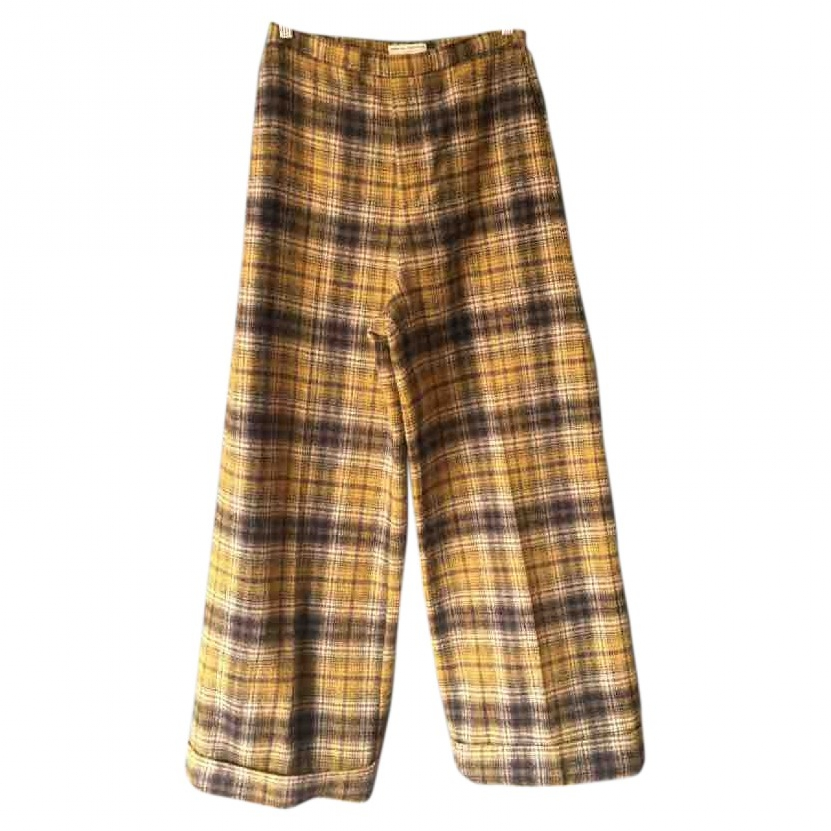 Opening Ceremony \N Yellow Wool Trousers for Women L International