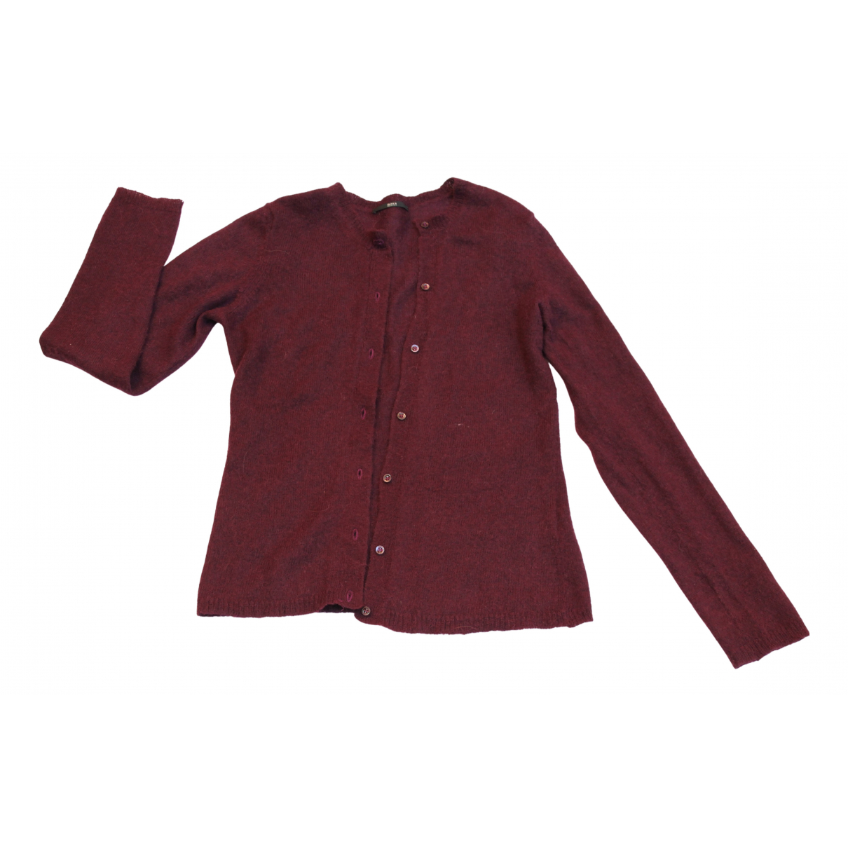 Boss N Burgundy Wool Knitwear for Women S International